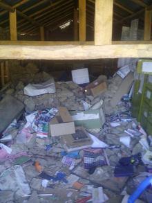 interno delle scuole dopo il sisma